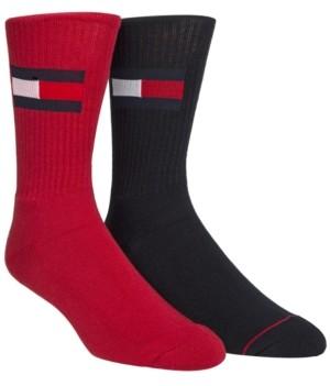 Tommy Hilfiger Men's 2-Pk. Logo Crew Socks
