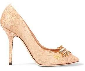 Dolce & Gabbana Embellished Corded Lace Pumps