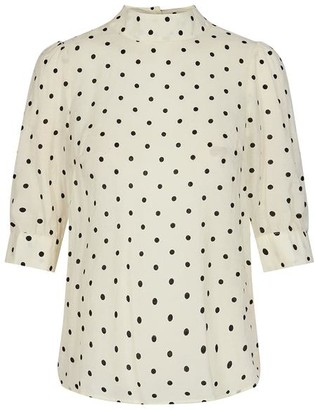 Jagger Co'couture Dot Blouse - X Small