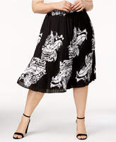 Melissa McCarthy Trendy Plus Size Pleated Skirt