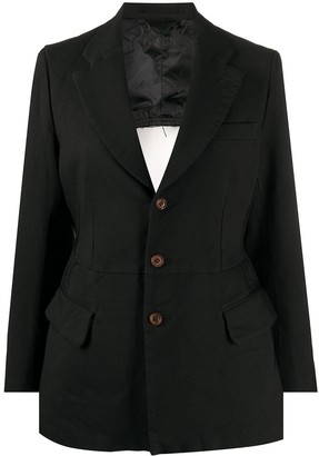 Comme des Garcons Open-Back Single Breasted Blazer