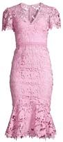 Shoshanna Calandra Lace Flare-Hem Dress