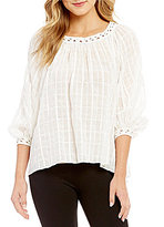 M.S.S.P. Shadow Dobby Woven Blouse