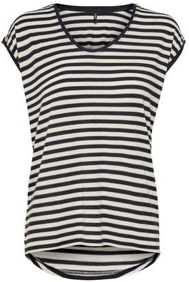 Only Crew-Neck Striped T-Shirt