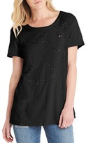 Michael Stars Women's Distressed Hemp & Cotton Tee