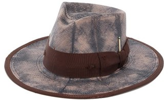 Nick Fouquet Outpost Grosgrain-trim Straw Fedora Hat - Mens - Brown