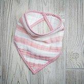Baby Essentials aden + anais Pink Stripe Bandana Bib