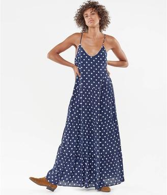 Le Temps Des Cerises Shoestring Strap Maxi Dress