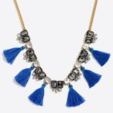 J.Crew Factory Gemstone tassel necklace