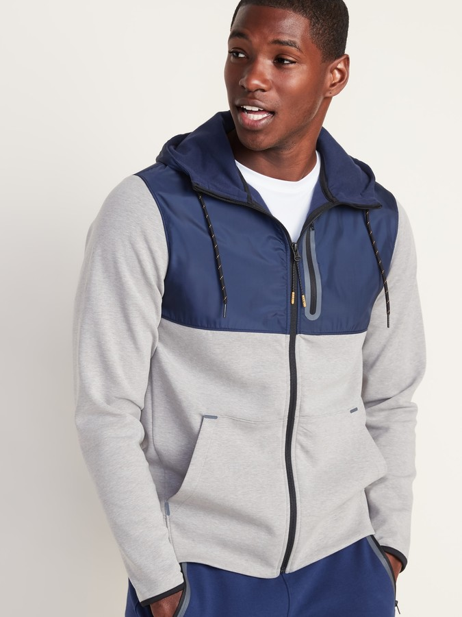 Old Navy Go-H20 Water-Repellent Dynamic Fleece Zip Hoodie for Men