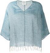 Forte Forte fringed hem blouse - women - Linen/Flax - I