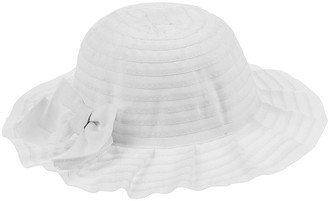 Monsoon Baby Girls Ruby Pleated Hat with Bow - White
