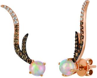 LeVian Le Vian 14K Rose Gold 1.44 Ct. Tw. Diamond & Neopolitan Opal Earrings