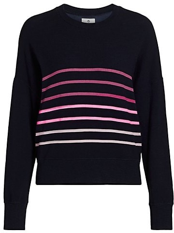 Thumbnail for your product : Sundry Oversized Striped-Front Sweatshirt