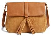 Emperia Saydie Tassel Faux Leather Crossbody Bag - Black