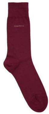 BOSS Regular-length socks in combed stretch cotton