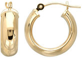 Lord & Taylor 14K Yellow Gold Polished Hoop Earrings