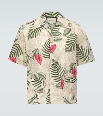 Gucci Hawaiian print bowling shirt