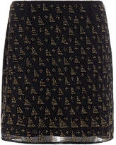 Joie Loubelle Bead-Embellished Mini Skirt