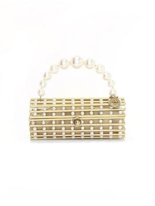 Rosantica Medea Faux Pearl-Embellished Box Clutch