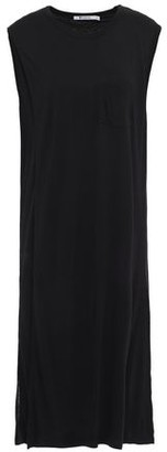 Alexander Wang Draped Melange Jersey Dress
