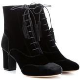 Tabitha Simmons Afton Velvet Ankle Boots
