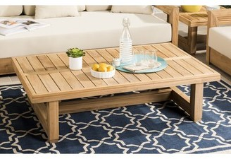 Lakeland Solid Wood Coffee Table Rosecliff Heights