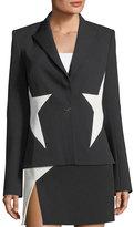 Thierry Mugler Bicolor Crepe Star Jacket