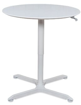 """Round Pneumatic Height Adjustable Cafe Table Offex Size: 42.4"""" H x 32"""" L x 32"""" W"""