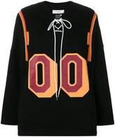 Facetasm lace-up oversized sweatshirt