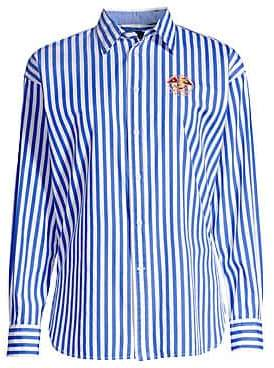 Polo Ralph Lauren Women's Ellen Embroidered Striped Long-Sleeve Button-Down Shirt
