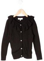 Milly Minis Girls' Ruffle-Trimmed Cardigan