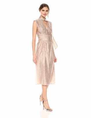 BCBGMAXAZRIA Azria Women's Metallic Ruched Dress