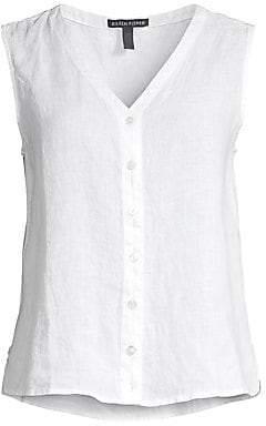 0e7c651537d Women's Sleeveless Organic Linen Tank Top