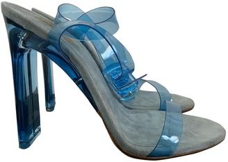 Yeezy Blue Plastic Heels