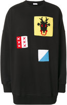 J.W.Anderson oversized knitted patch sweatshirt - men - Cotton/Acrylic/Wool - One Size