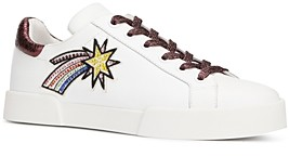 Kenneth Cole Women's Tyler Space Round Toe Leather Lace Up Sneakers