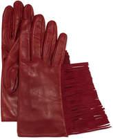 Guanti Giglio Fiorentino Leather Gloves w/Fringe