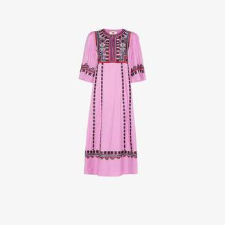 Figue electra embroidered-cotton dress