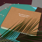Undercover Personalised Raw Large Leather Wedding Album