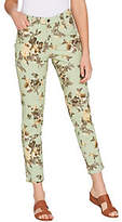 Denim & Co. Studio by Denim &Co. Floral Print Stretch TwillAnkle Pants