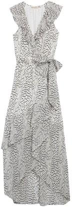 Ramy Brook Wilma Ruffled Metallic Silk Blend Maxi Dress