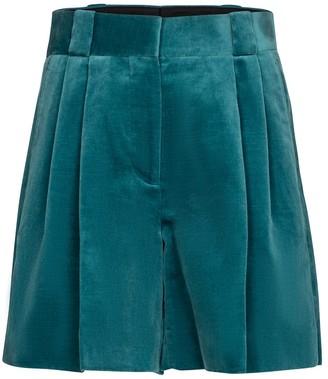 BLAZÉ MILANO Fell high-rise velvet shorts