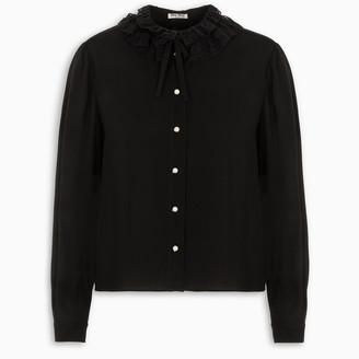 Miu Miu Black sable blouse