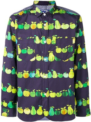 Junya Watanabe Panelled Apple-Print Shirt
