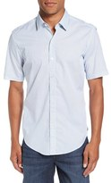 BOSS Robb Trim Fit Short Sleeve Sport Shirt