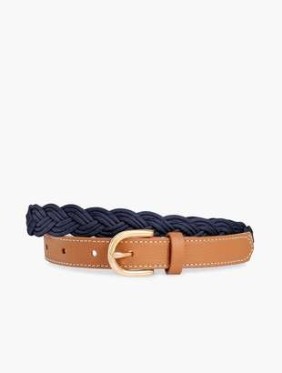 Talbots Braided Leather & Corded Belt