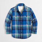 J.Crew Factory Boys' sherpa-lined flannel jacket