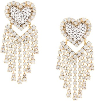 Shourouk Chandelier Heart Earrings