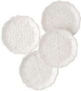 Juliska Berry & Thread White Snowfall Side Plates, Set of 4